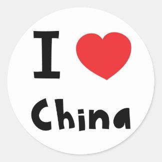 I love China Classic Round Sticker