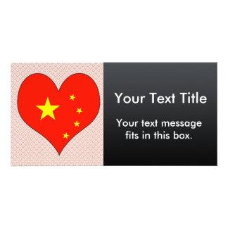 I Love China Photo Card Template