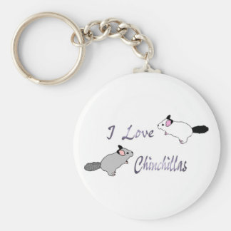 I love chinchillas key chain