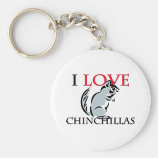 I Love Chinchillas Key Ring