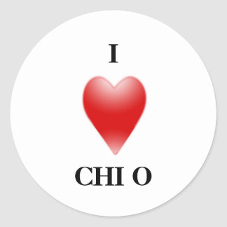 I LOVE CHIO CLASSIC ROUND STICKER
