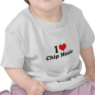 I Love Chip Music Tee Shirts