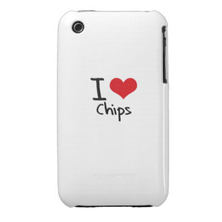 I love Chips Case-Mate iPhone 3 Cases