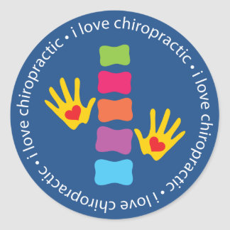 I Love Chiropractic Kids Stickers