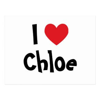 I Love Chloe Postcard