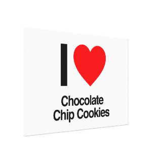 i love chocolate chip cookies gallery wrap canvas