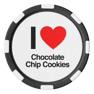 i love chocolate chip cookies poker chips set