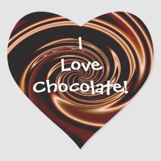 I Love Chocolate! Heart Stickers
