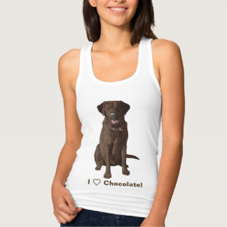 I Love Chocolate Labrador Retrievers Singlet