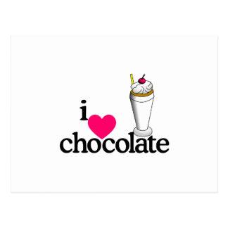 I Love Chocolate Malt Postcard