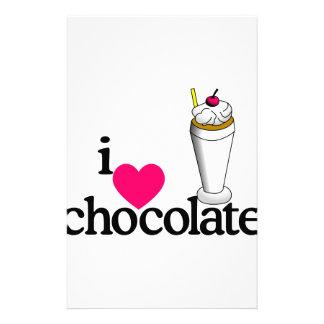 I Love Chocolate Malt Personalized Stationery