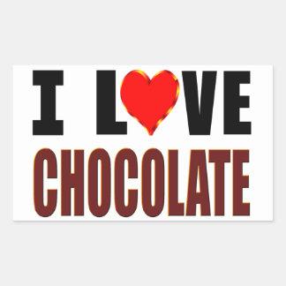 I Love Chocolate Rectangular Sticker