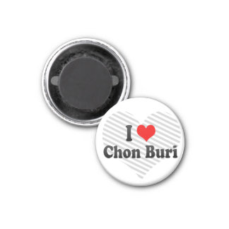 I Love Chon Buri, Thailand 3 Cm Round Magnet