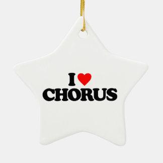 I LOVE CHORUS CERAMIC STAR DECORATION