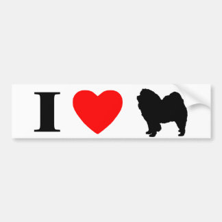 I Love Chow Chows Bumper Sticker