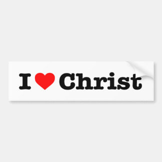 """I LOVE CHRIST"" BUMPER STICKER"