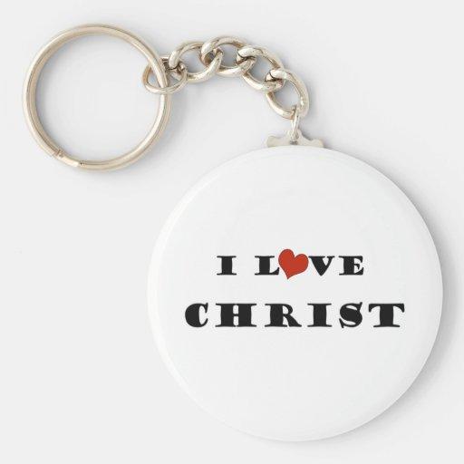 I Love Christ Keychains