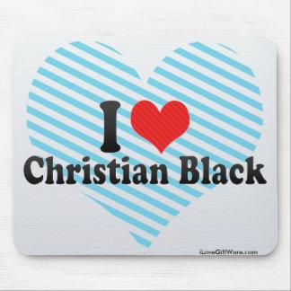 I Love Christian Black Mousepad