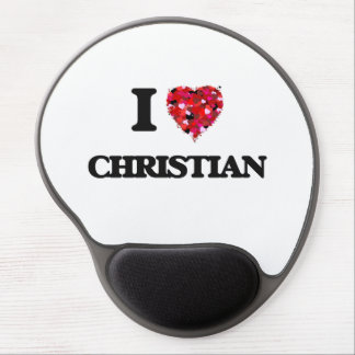 I Love Christian Gel Mouse Pad