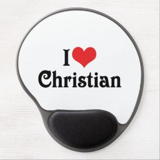 I Love Christian Gel Mouse Mat
