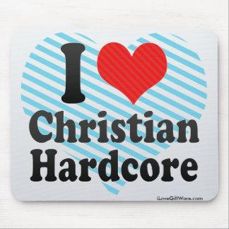 I Love Christian+Hardcore Mouse Pad