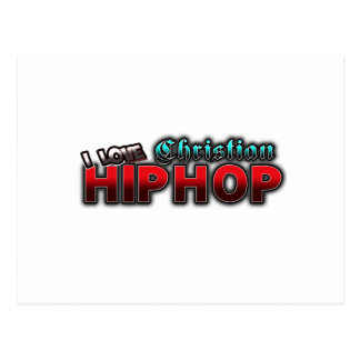 I Love Christian HIP HOP music Postcard