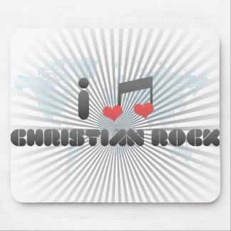 I Love Christian Rock Mousepad