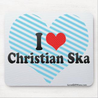 I Love Christian Ska Mouse Pads