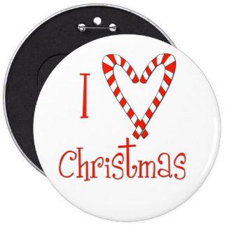 I love Christmas 6 Cm Round Badge