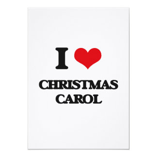 I Love CHRISTMAS CAROL Personalized Invites