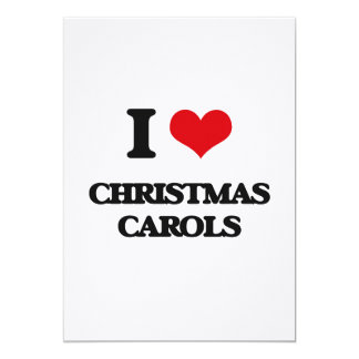 I Love CHRISTMAS CAROLS Personalized Invitation Cards