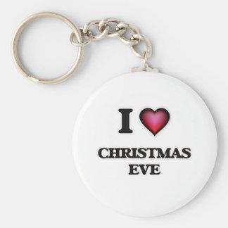 I love Christmas Eve Key Ring