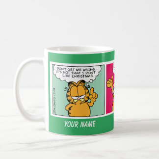 """I Love Christmas"" Garfield Comic Strip Mug"