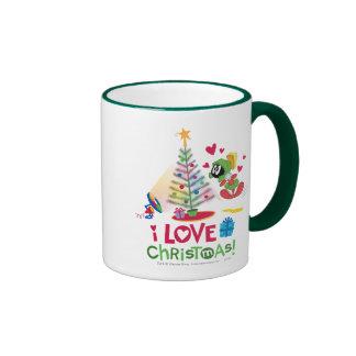 I Love Christmas - MARVIN THE MARTIAN™ Ringer Mug