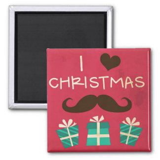 I Love Christmas Moustache Magnet