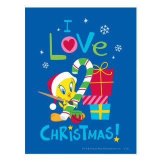 I Love Christmas - Tweety Post Cards