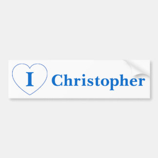 I Love Christopher Bumper Sticker