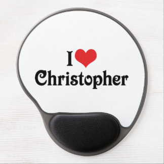 I Love Christopher Gel Mouse Pad