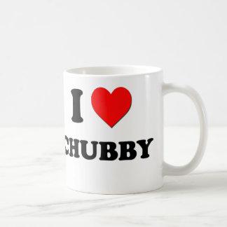 I love Chubby Basic White Mug