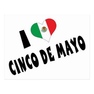 I Love Cinco de Mayo Postcards