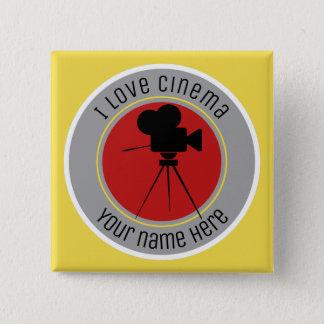 I love Cinema 15 Cm Square Badge