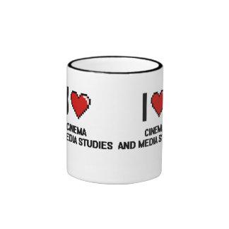 I Love Cinema And Media Studies Digital Design Ringer Mug