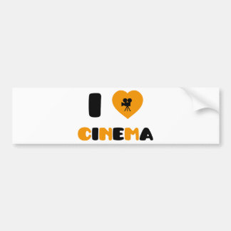 I Love Cinema Bumper Sticker