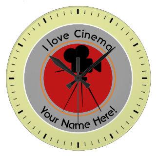 I love Cinema Large Clock