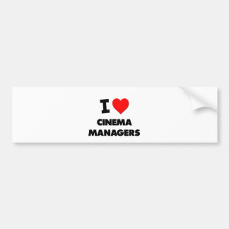 I Love Cinema Managers Bumper Stickers