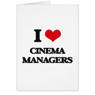 I love Cinema Managers Cards