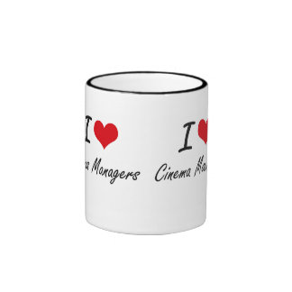 I love Cinema Managers Ringer Mug