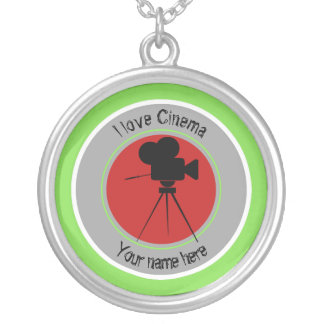 I love Cinema Silver Plated Necklace