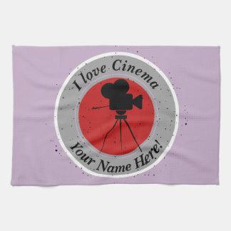 I love Cinema Tea Towel