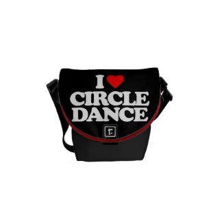 I LOVE CIRCLE DANCE COMMUTER BAGS